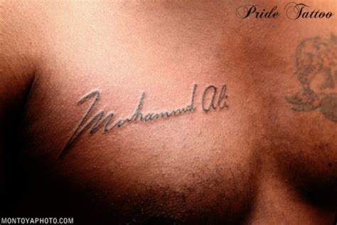 tattoo of ali diddy s muhammad ali tattoo rap radar