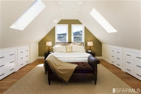 slanted ceiling bedroom language of color and texture great design for sloped