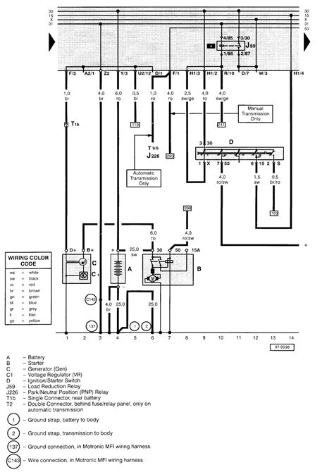 1999 vw passat starter wiring diagram efcaviation
