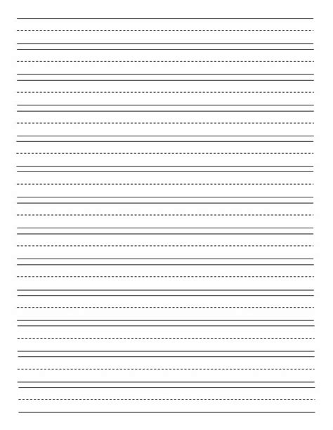 dotted line template 4 best images of elementary lined paper printable