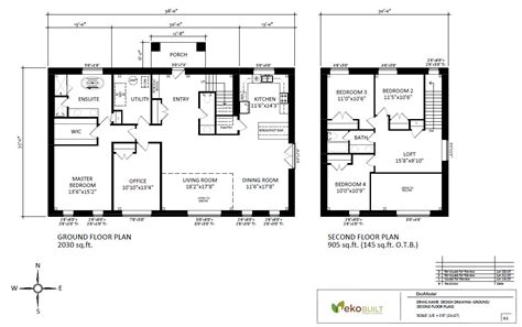 A House Plan by Home Energy And Design By Ekobuilt Ottawa Custom