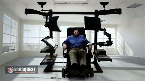 recliner desk reclining desk zero gravity workstation youtube