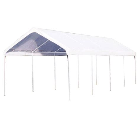 Home Depot Tarps For Sale by King Canopy 10 Ft W X 27 Ft D Universal Canopy In White C81027pc The Home Depot