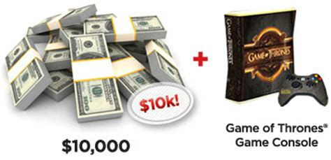 Game Console Giveaway - xfinity win a 10 000 cash and game of thrones xbox 360 co giveawayus com