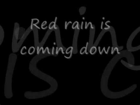 peter gabriel red rain (with lyrics) youtube