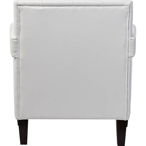 white faux leather armchair odella faux leather armchair nailheads white dcg stores