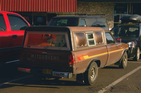 Old Parked Cars 1983 Mitsubishi Mighty Max Turbo Diesel