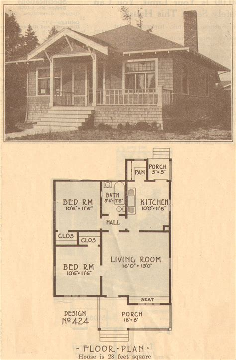 Small Bungalow Homes 1915 Bungalow Home Plan No 424 Hewitt Lea Funck Company