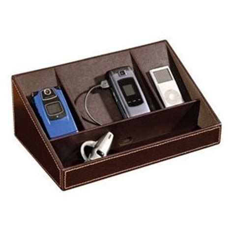 leather charging station traditional charging stations faux leather charging station brown 11 5 quot h x 7 25 quot w x 4