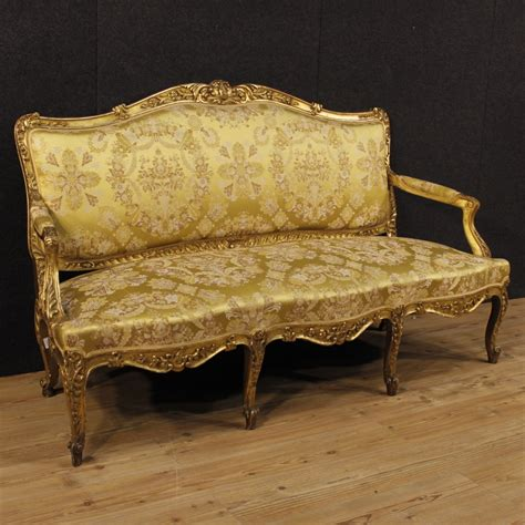 vintage french sofa antique french golden sofa 1880s for sale at pamono