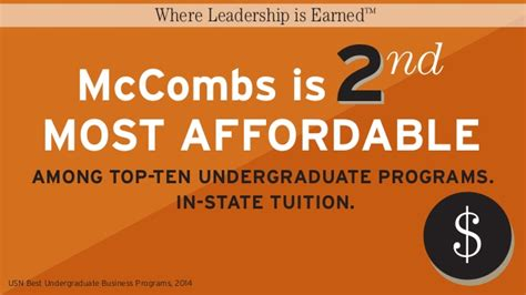 Mccombs Mba Tuition by Mccombs School Of Business Where Leadership Is Earned