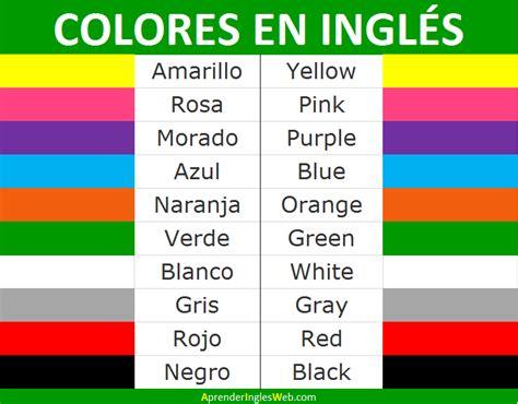 imagenes colores ingles colores en ingl 201 s descarga la lista de colores