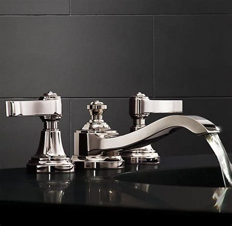 restoration hardware bathroom faucets caign 8 quot widespread faucet set bathroom pinterest