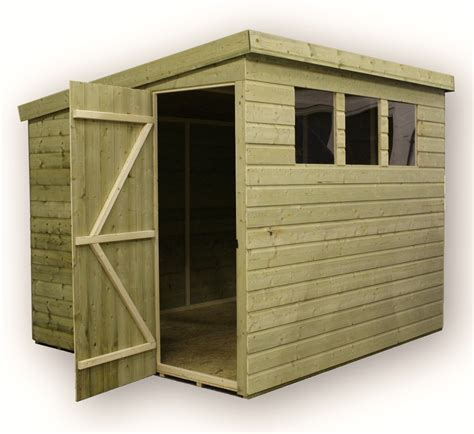 Pent Shed 6 X 3 by 8 X 6 Pressure Treated Tongue And Groove Pent Shed With 3