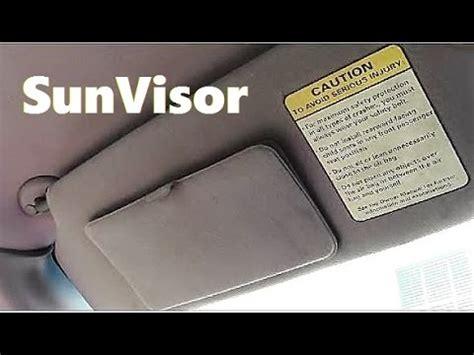 how to remove install sun visor youtube