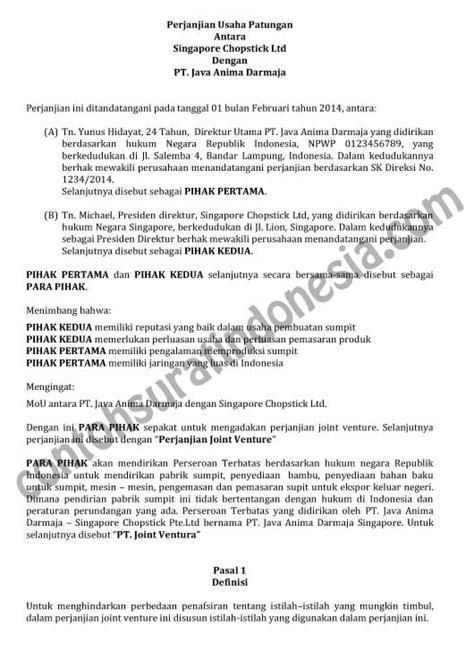 02 contoh contoh surat perjanjian kontrak the