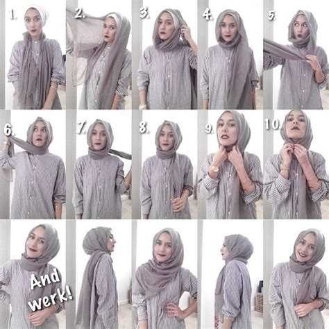 tutorial pashmina monochrome simple tips hijab cantik dengan pashmina sikumu