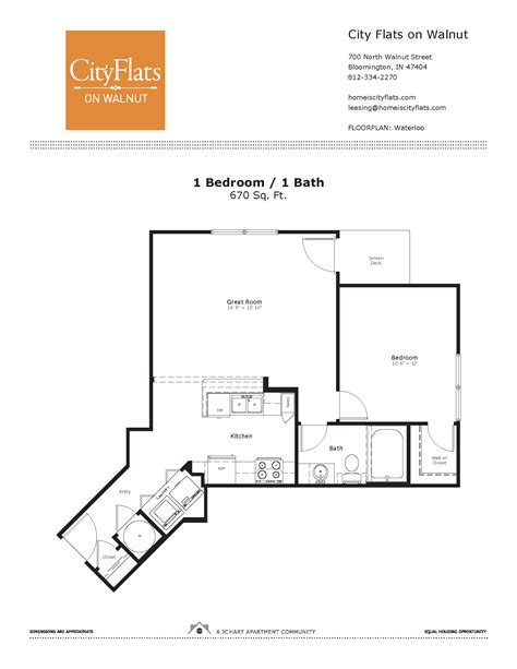 waterloo floor plan waterloo city flats