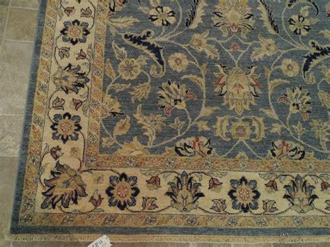 blue beige vegetable dyed rug handmade 5x8 wool area rug
