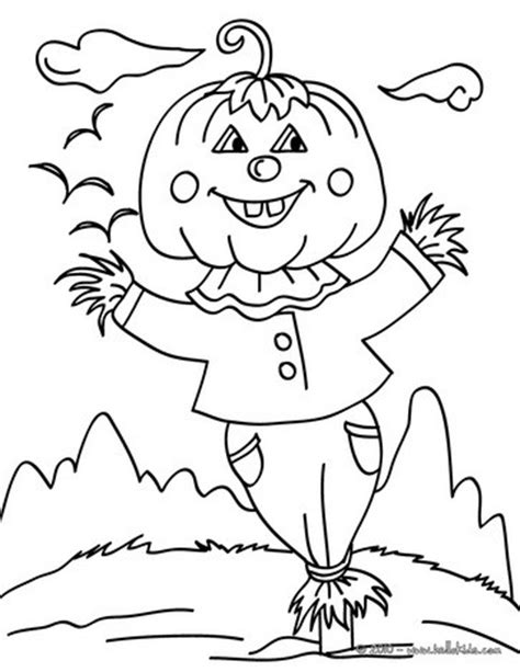 pumpkin scarecrow coloring pages jack o lantern scarecrow coloring pages hellokids com