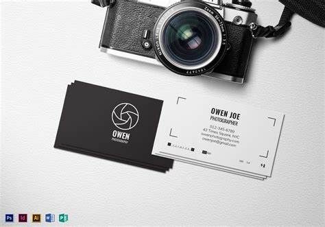 Card Templates For Photographers Whcc by Photographer Lens Business Card Template In Psd Word