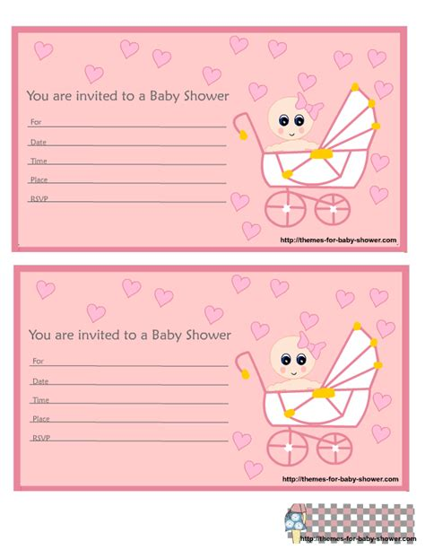 Downloadable Baby Shower Invitations by Free Printable Pink Baby Shower Invitations