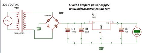 5v 12v power supply circuit diagram power supply for electronics projects