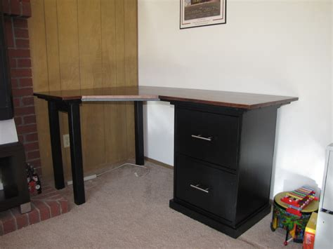 Build A Small Desk Stunning Modern Desk Design With Wooden Varnishing Table Combined File Cabinets Featuring
