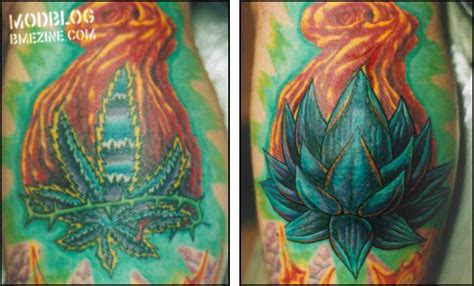 smoking weed before tattoo coverup before and after bme piercing