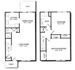 2 Bedroom 1 Bath Duplex Floor Plans by Briar Wood House Apartments