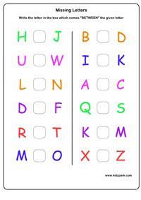 free printable english worksheets for lkg ukg english capital missing letters worksheet kindergarten