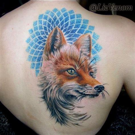 mandala tattoo edmonton lizvenom realistic fox and pointillism mandala by liz