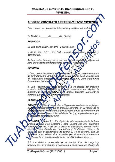 modelo de contrato de arrendamiento de vivienda modelo de contrato de arrendamiento de vivienda 2