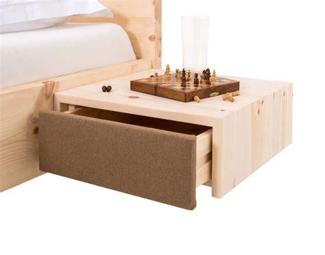 moderne nachtkästchen zirbenholznachtk 228 stchen schwebend das zirbenbett