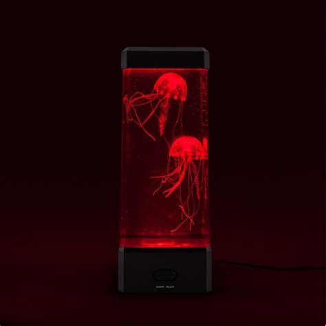 jellyfish aquarium with color changing led lights neon jellyfish tank quot awesome mood light with colour