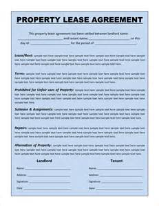 free lease agreement templates 5 lease agreement template freereport template document