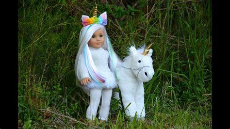 doll unicorn american unicorn doll fixing up a retired ag doll