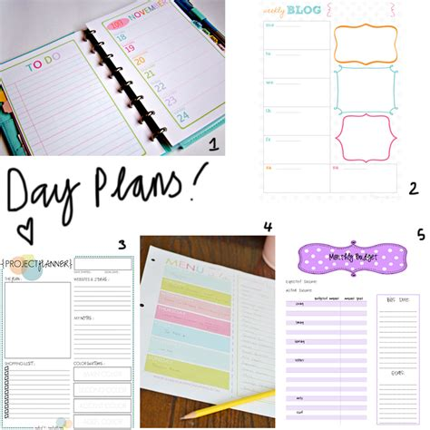 printable weekly planner inserts 8 best images of printable planner inserts free planner