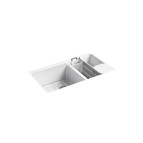 kohler riverby undermount sink kohler riverby undermount cast iron 33 in 5 hole double
