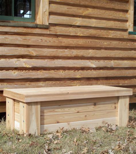 cedar deck bench cedar chest and chiminea bench 4 39