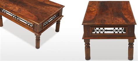 jali sheesham 110 cm coffee table quercus living