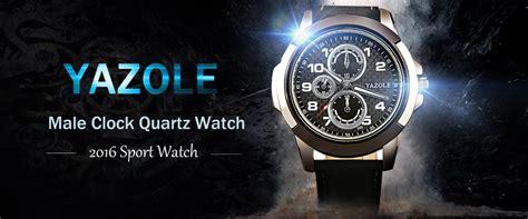 Best Selling 2016 Watches Fashion Quartz Casual Leather luxury brand quartz 2016 yazole casual fashion