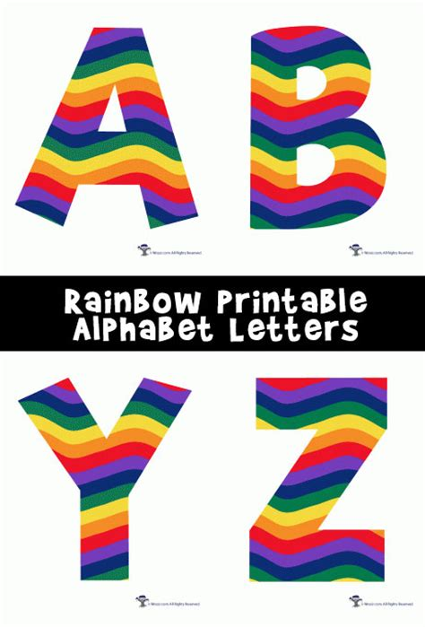 printable alphabet rainbow rainbow alphabet printable letters woo jr kids activities