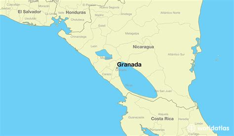 nicaragua location on world map where is granada nicaragua granada granada map