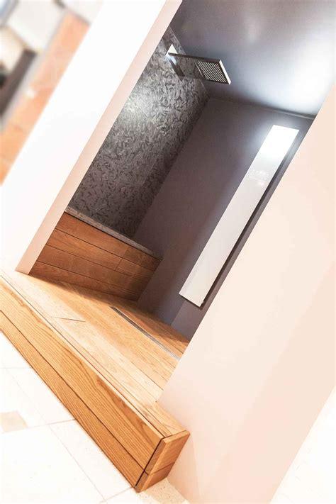 box doccia in legno box doccia in legno e pietra naldi pavimenti novara