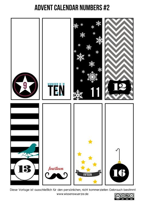 free printable advent calendar numbers 17 images about advent kalender zahlen on pinterest