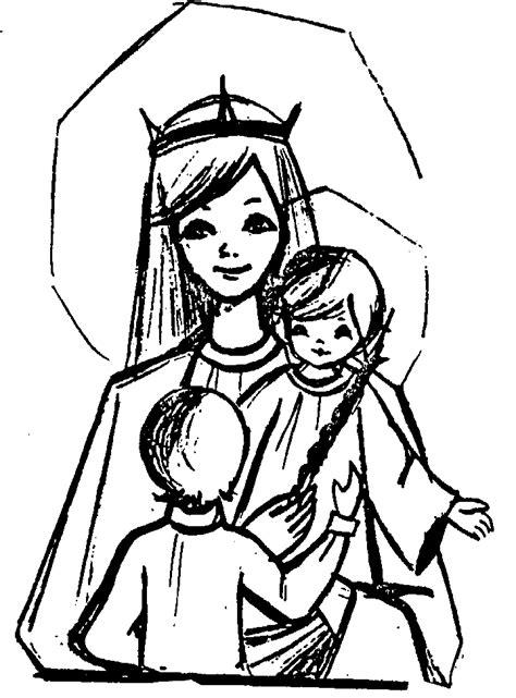 imagenes virgen maria para dibujar dibujo de maria auxiliadora para colorear imagui