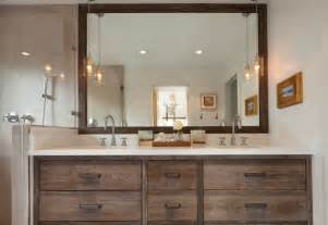 classic bathroom vanity with stylish pendant lights offer