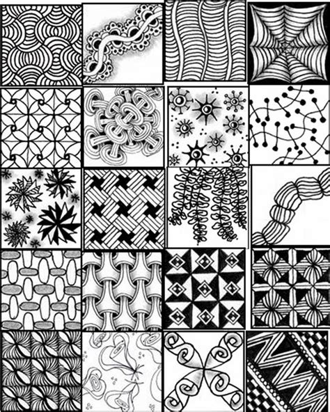 pattern out of words zentangle patterns for beginners sheets bing images