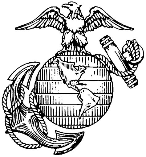 Free Coloring Pages Of Eagle Globe And Anchor Us Marine Corps Coloring Pages